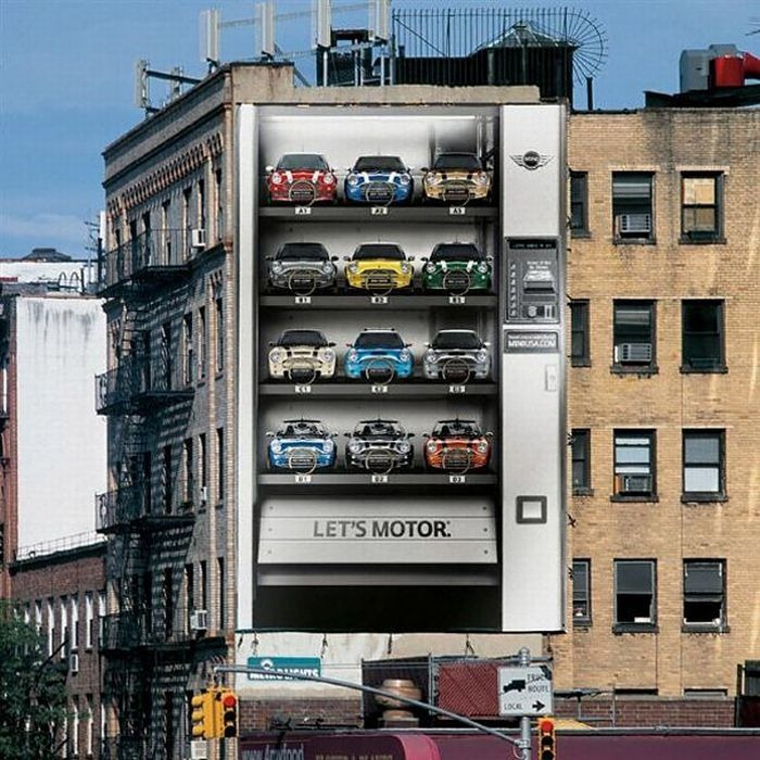 Four The Best Building: Creative Advertisements On Buildings